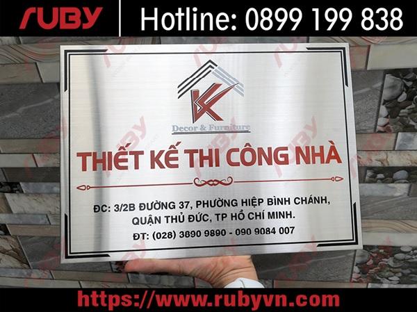 bảng tên công ty